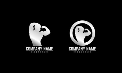 Gym, Fitness, crossfit iconic logo illustration