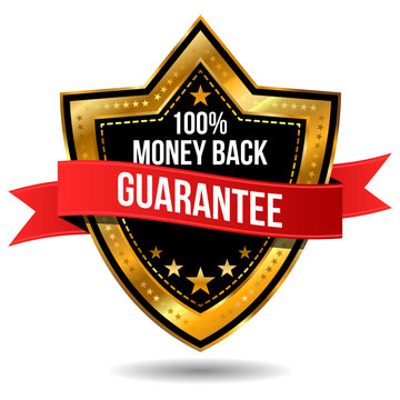 100% Money Back Guarantee Label