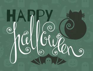 Happy Halloween vintage poster