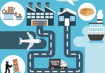 Freight and Shipping Vector Illustration 1