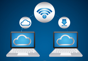 Cloud computing data infographic