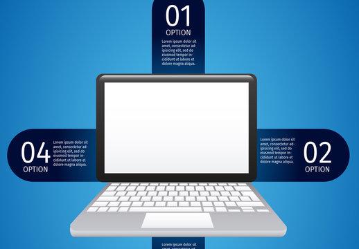 Laptop data infographic