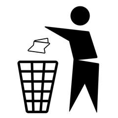 Mülleimer, Umwelt sauber halten