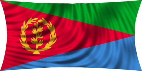 Flag of Eritrea waving isolated on white
