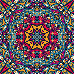 colorful floral vector ethnic tribal pattern