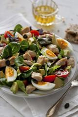 Chicken, avocado and egg salad