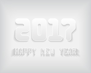 2017 New Year numbers and greeting text. 2017 new year color card