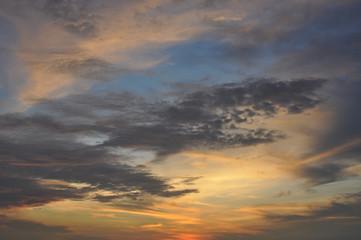 Sunset on the beach of Goa.India