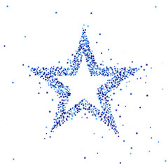 Vector illustration of blue star