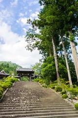 Kuonji Kanro-mon gate and stone stairs step