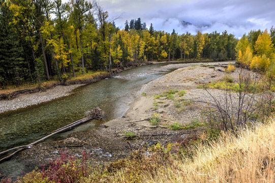 Methow River in autumn.