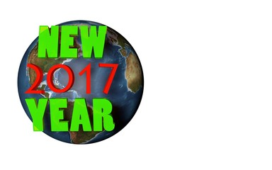 new 2017 year on planet