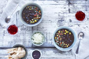 Black Bean Roasted Salsa Soup