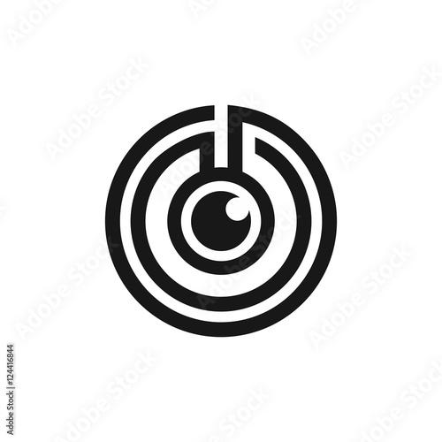 Maze Labyrinth One Eye Monocular Logo Symbol Stock Image And
