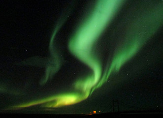 Breathtaking Northern Lights in the Early winter of Iceland