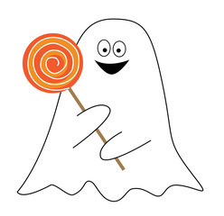 Happy Halloween Candy Ghost