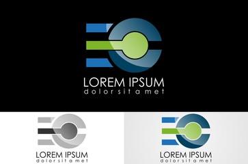 letter E,C logo