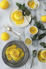 Lemon Curd Panna Cotta