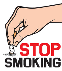 stop smoking concept - hand extinguishing a cigarette