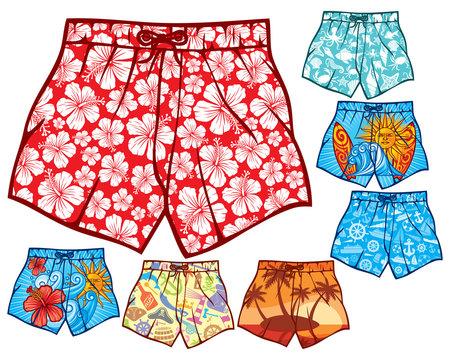 swim shorts collection (swimming trunks set)