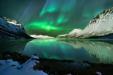 Zelfklevend Fotobehang Noorderlicht Norway