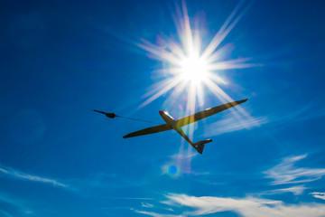 Segelflugzeug beim Windenstart