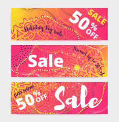 Sale banner template