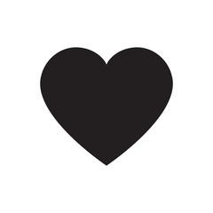 Black heart vector isolated
