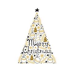Christmas tree. Merry Christmas card