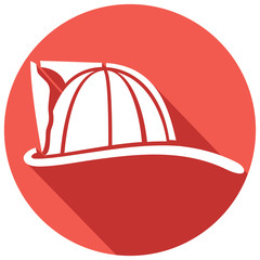 firefighter helmet flat icon