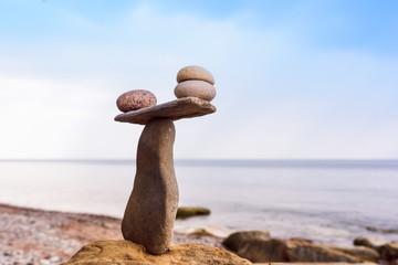 Balancing a few pebbles