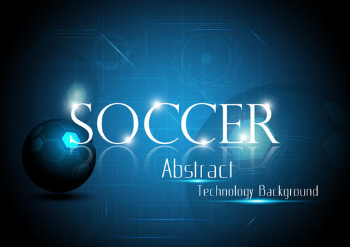 Soccer Abstract technology background style. Vector illustration