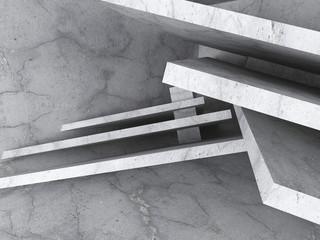 Chaotic Construction Background. Concrete Architecture