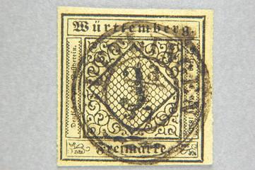 Briefmarke Altdeutschland: Württemberg