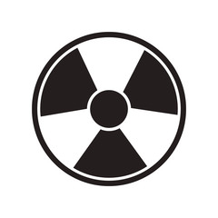 toxic and nuclear symbol over white background. vector illustration