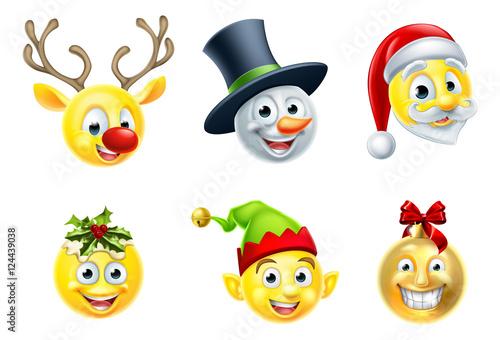 christmas emoji set stock image and royalty free vector. Black Bedroom Furniture Sets. Home Design Ideas