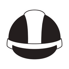 industrial security helmet protection equipment over white background. vector illustration