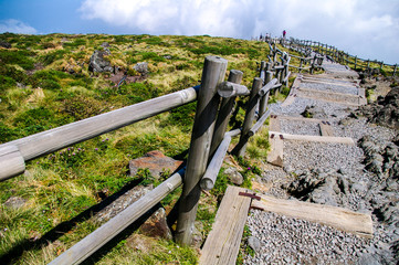 Top of Halla mountain at summer in Jeju, South Korea.