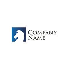 Horse stategic concept logo design vector