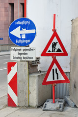 Baustelle, Verkehrsschilder, Baustelle