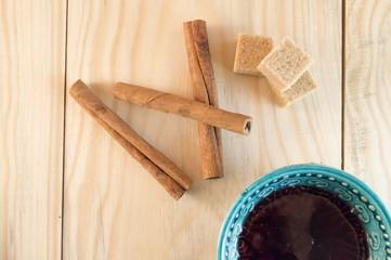 flour sugar and cinnamon