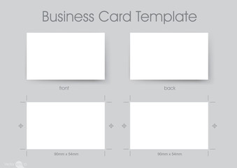 Business Card Template (90mm x 54mm CMYK)