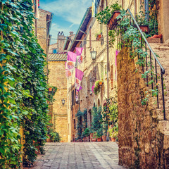 Wall Mural - Alley in Italian old town Italy