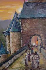 Painting.  Butter. Castle Eltz.