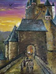 Illustration. Uropean castle.