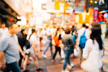 Fotomurales - people walking in the street, abstract, blurry,vintage tone