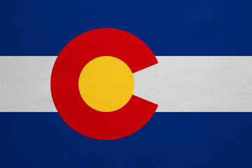 Flag of Colorado real detailed fabric texture
