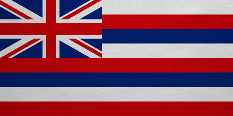 Flag of Hawaii real detailed fabric texture