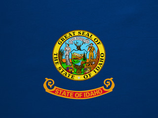 Flag of Idaho real detailed fabric texture