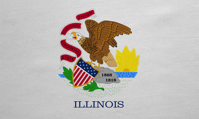 Flag of Illinois real detailed fabric texture